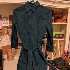 Express Teal Shirt Dress